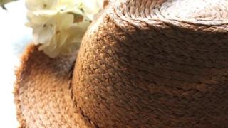 麦わら帽子の汗